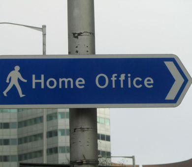 Street sign to the Home Office